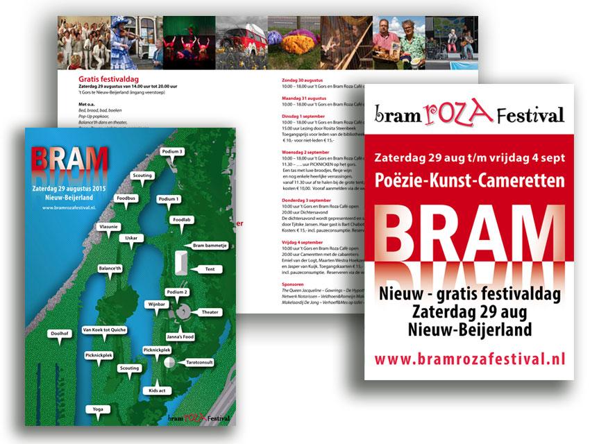 Folder met het volledige programma Bram Roza Festival 2015
